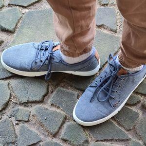 Colorado Mens Blue Grey Denim Look Casual Shoes 8